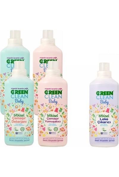U Green Clean Baby Bitkisel Çamaşır Deterjanı Ve Yumuşatıcı 4'lü Paket Ve Leke Çıkarıcı