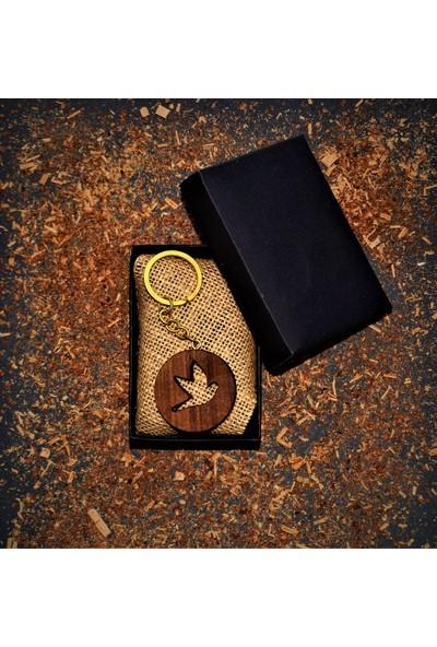 Bi-Ka Ahşap Atölyesi Bi-Ka Kuş Figürlü Anahtarlık