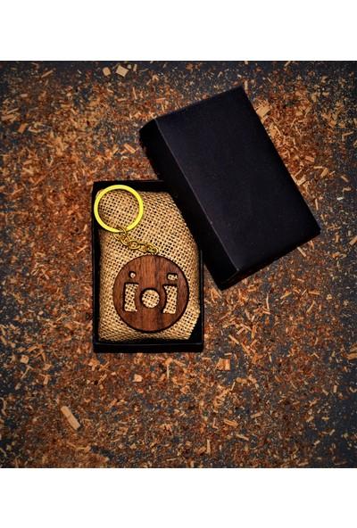 Bi-Ka Ahşap Atölyesi Bi-Ka Fotoğraf Makine Figürlü Anahtarlık