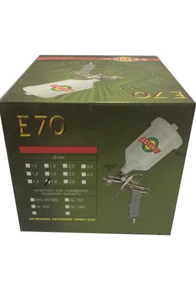 Asturo E-70 Boya Tabancası Üstten Depo 1,8Mm.