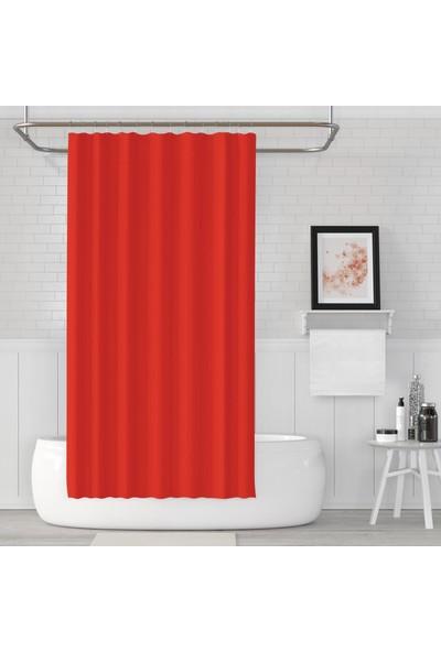 Zethome Jackline Banyo Duş Perdesi 0010 Kırmızı Tek Kanat 1X180X200