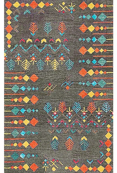 Halı Alanı Butikhalici Pamuklu Dokuma Dekoratif Kilim md120b