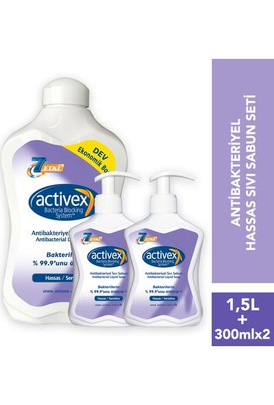 Activex Antibakteriyel Sıvı Sabun Hassas 1.5 lt & 300 ml & 300 ml Fırsat Paketi