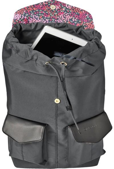 """Wenger MarieJo 14"""" Tablet Gözlü Laptop Omuz ve Sırt Çantası - Siyah / Çiçek Desenli 604801"""