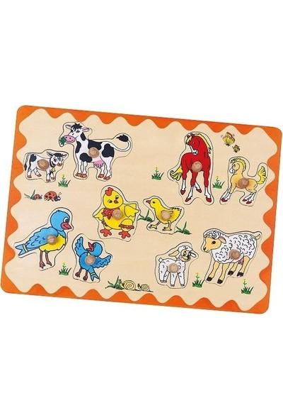 Edu Toys Çiftlik Hayvanları ve Yavruları Puzzle