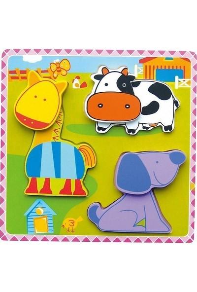 Edu Toys Mutlu Çiftlik Puzzle 3D