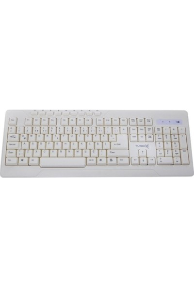 Turbox Tr-W80 Beyaz   Kablosuz Multimedia Klavye Mouse Set