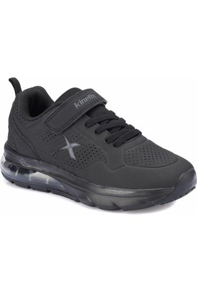 Kinetix Aspen J Siyah Koyu Gri Erkek Çocuk Koşu Ayakkabısı