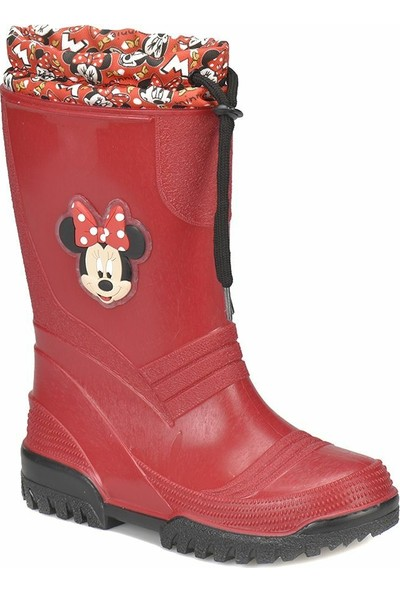 Mickey Mouse Mani Kırmızı Kız Çocuk Bot