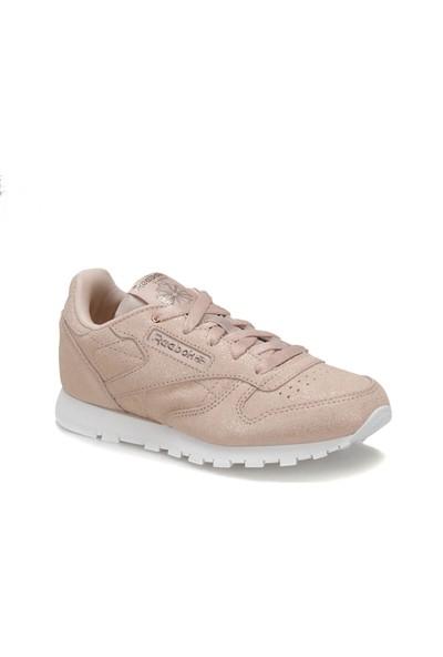 Reebok Classic Leather Rose Gold Bej Beyaz Kız Çocuk Koşu Ayakkabısı