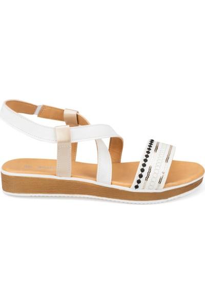 Polaris 91.313270.Z Beyaz Kadın Sandalet