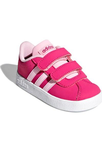Adidas Vl Court 2.0 Cmf I Fuşya Pembe Kız Çocuk Sneaker Ayakkabı