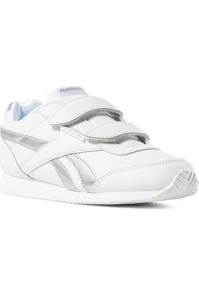 Reebok Royal Cljog Beyaz Gümüş Kız Çocuk Koşu Ayakkabısı