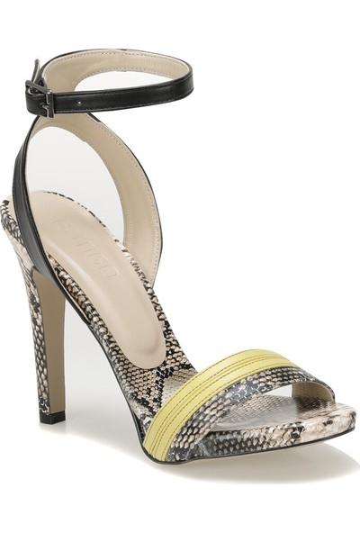 Butigo Riddle51Z Cilt Sarı Yılan Rengi Kadın Sandalet