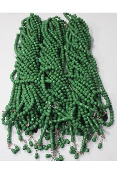 Güllü Tesbih 99 Lu 10Mm 7225 (10 Lu) - Yeşil