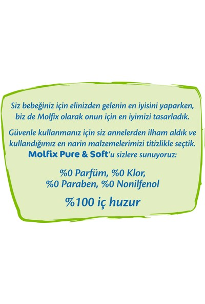 Molfix Pure&Soft Bebek Bezi Midi 3 Beden 70 Adet
