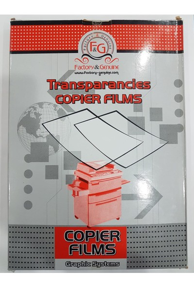 Factory Genuine Fotokopi Asetatı A4 100 Mikron 100'lü Kutu