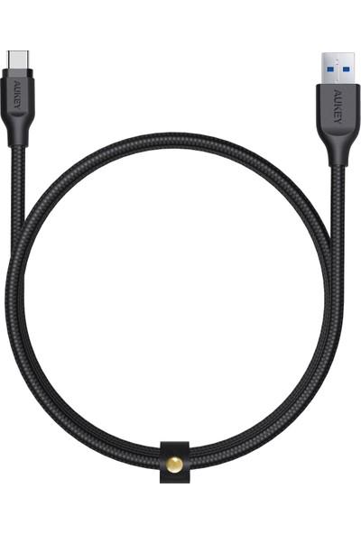Aukey CB-AC1 3.1 USB A to USB C Kablosu Nylon Örgülü (1.2 mt)