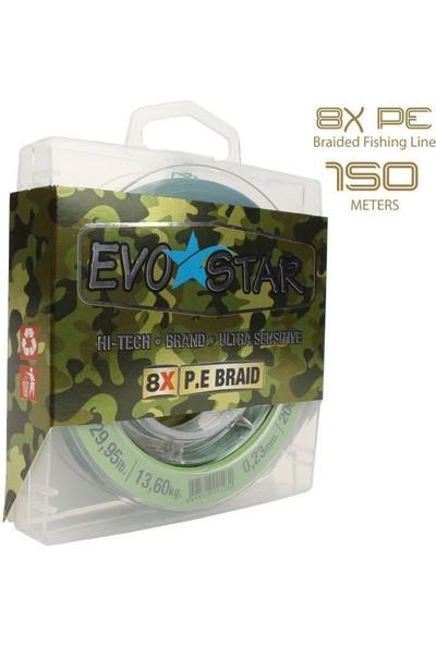 EVOSTAR 8 Kat Örgü PE İp Misina 150m 0.30 0.35mm Arası