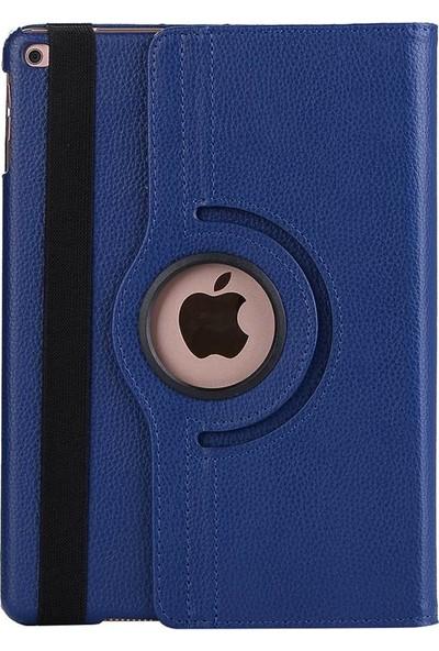 Fujimax ipad Air 2. Nesil A1566 A1567 Seri 360 Derece Döner Tablet Kılıf+Stylus Kalem+ 9H Temperli Kırılmaz Ekran Koruyucu+Kulaklık+Şarj Seti