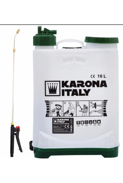 Karona Italy Mekanik Püskürtme Makinesi Sırt Tipi 16 Lt