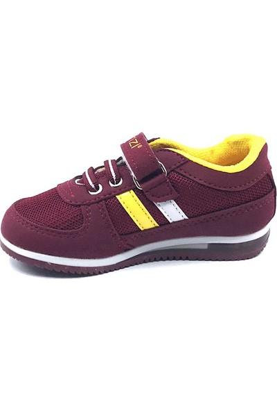 Ganzi Bordo-Sarı Erkek Bebe Spor Ayakkabısı
