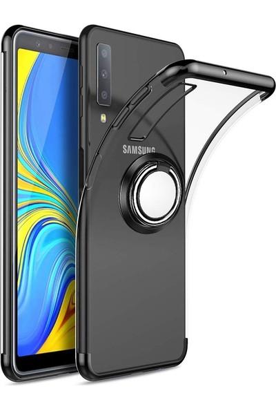 Teleplus Samsung Galaxy A50 Lüks Lazer Yüzüklü Silikonlu Kılıf