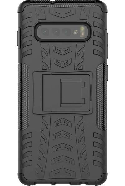 Teleplus Samsung Galaxy S10E Dazzle Standlı Tank Kapak Kılıf