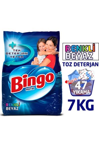 Bingo Renkli&Beyaz Toz Çamaşır Deterjanı 7 Kg