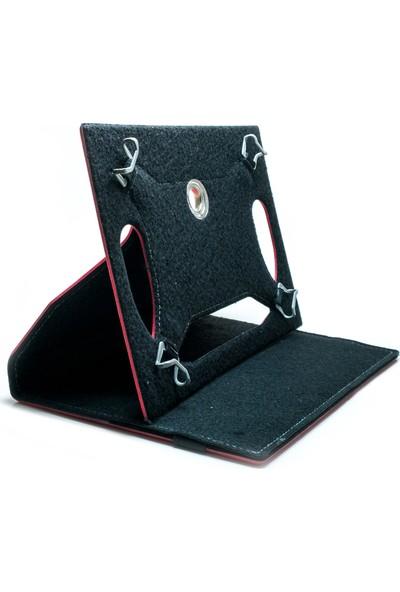 """AksesuarFırsatı Asus Memo Pad 10 (Me103K) 10.1"""" Tablet Dönerli Tablet Kılıfı Kırmızı - Türk Bayrağı"""