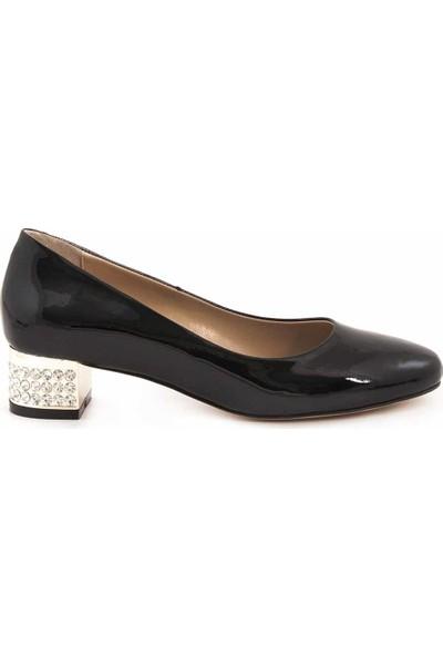Rouge Deri Kisa Topuklu Kadın Topuklu Ayakkabı 8872