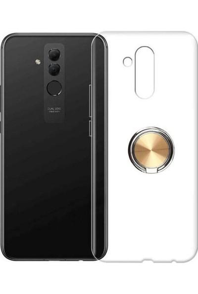 Coverzone Huawei Mate 20 Lite Kılıf Kılıf Şeffaf Yüzük Tutucu Standlı Kılıf