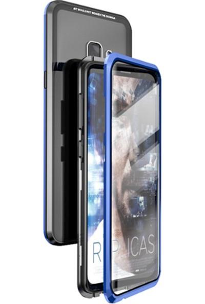 Coverzone Samsung Galaxy A9 2018 Kılıf 360 Manyetik Kapaklı Crouch Kılıf