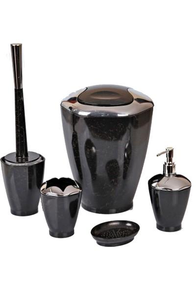Oyam Hoby Siyah Plastik Banyo Seti