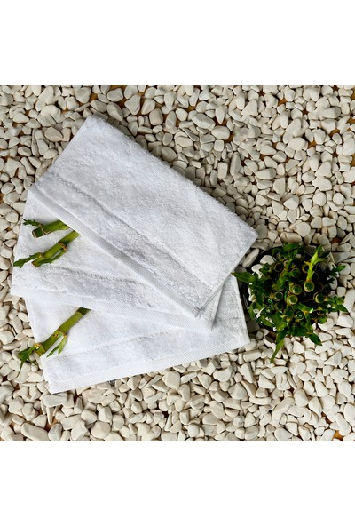 İpekçe 3'lü El Havlusu Beyaz 30 x 30 cm