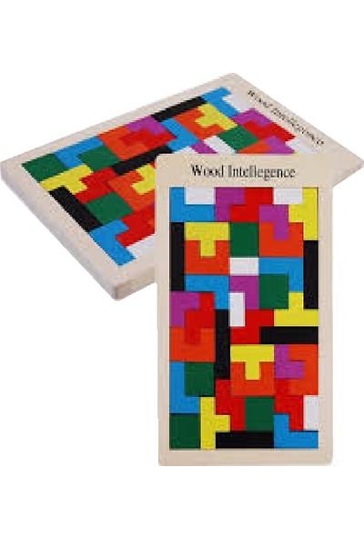 Wood İntelligence Ahşap Tetrisve Blok Zeka Oyuncağı Seti