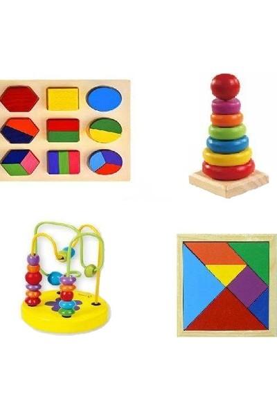 Kaikai Toy Ahşap Zeka Eğitici Oyuncak Bultak Ahşap Geçmeli Kule ve Okul Öncesi El Becerisi Kombinasyon Seti
