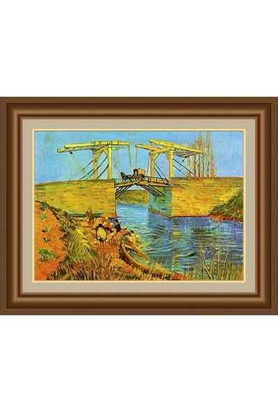 Angora Ac 0686 Vincent Van Gogh Arles Langlois Köprüsü Kanvas Tablo