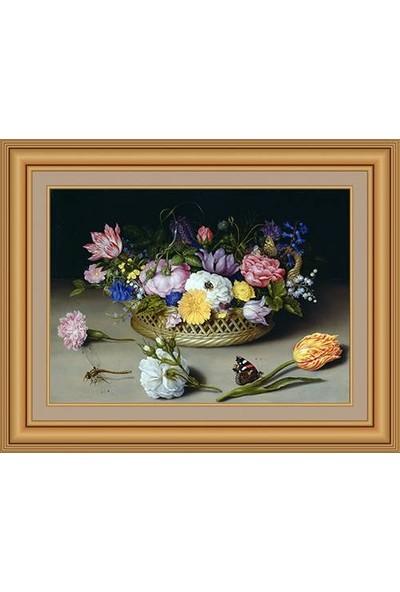 Angora Ac 0767 Bosschaert Ambrosius Çiçek Natürmort Kanvas Tablo