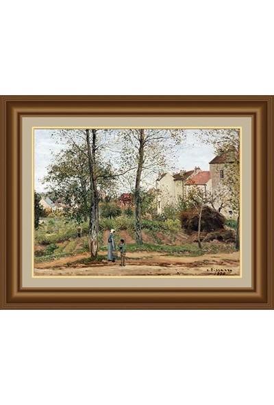 Angora Ac 1716 Camille Pissarro Bougival Sonbahar Evleri [1870] Kanvas Tablo