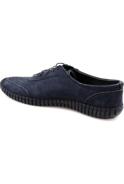 Fabiano Erkek Rahat Lacivert Deri Günlük Ayakkabı