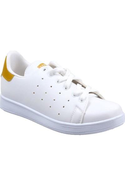 Livens Kadın Beyaz-Sari Günlük Spor Ayakkabı