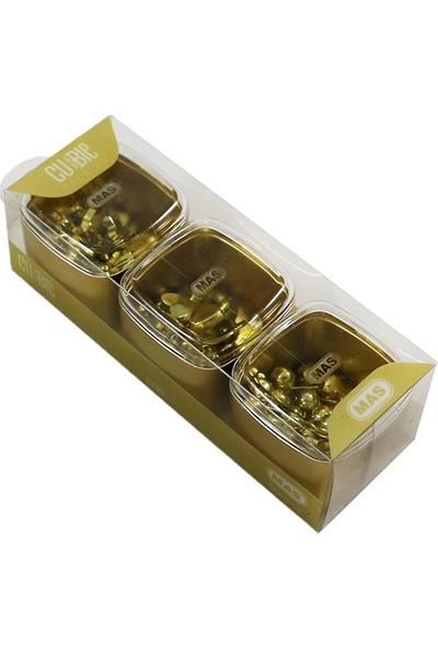 Mas 1335 Harita Çivisi 3 Lü Set Cubbie Premium Gold