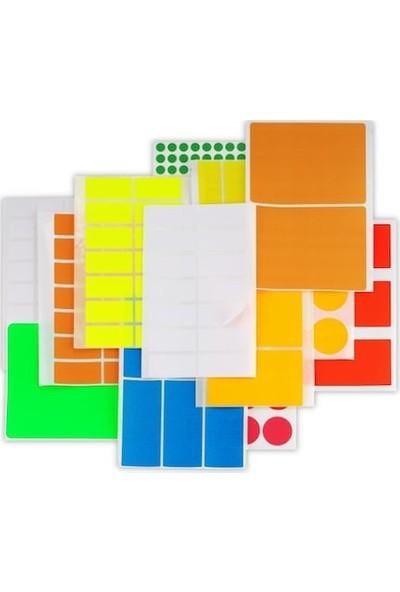 Platin Okul-Ofis Etiketi 8,5 X 19,5 Mm 12 Li Karışık Pe-121 (1 Paket 12 Adet)