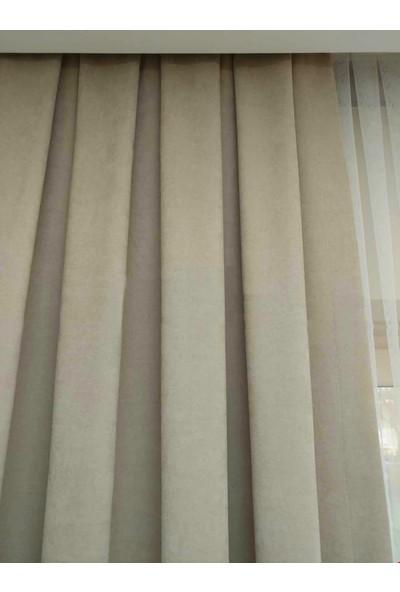 Caserta Home Düz Taş Orta Sıklıkta Pileli Tek Kanat Fon Perde - Melis Ada V12480