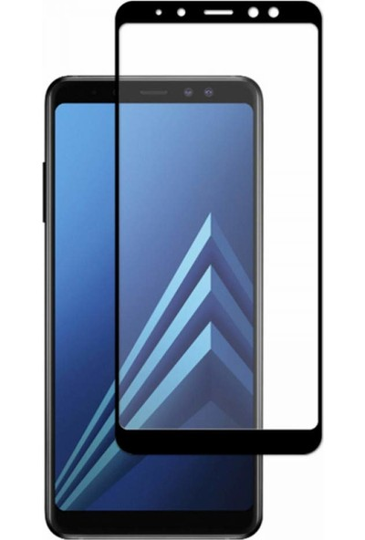 KNY Samsung Galaxy A6 Plus 2018 Full Kaplayan Fiber Nano Ekran Koruyucu Siyah