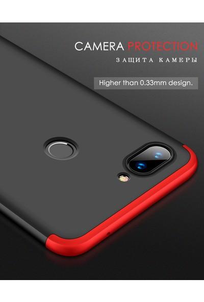 KNY Xiaomi Mi 8 Lite Kılıf 3 Parça 360 Ays Kapak + Cam Ekran Koruyucu