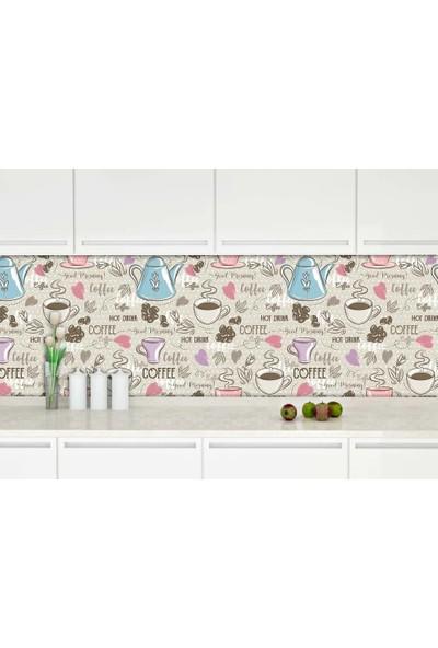 Dekoratifmarket 60 cm x 400 cm Mutfak Tezgah Arası Folyo - BDJPTZ67