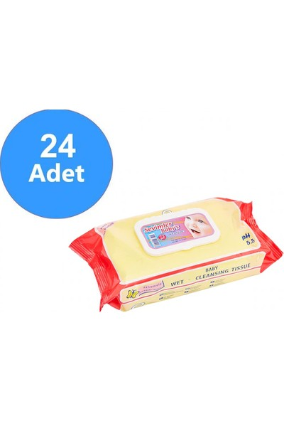 Sevimler Babys Havlu Sensitive Kapaklı 72 Li 24 Paket 1536 Yaprak