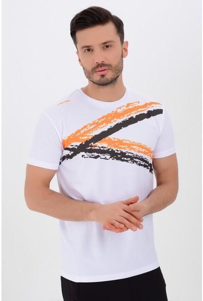Tyron Erkek Polyester Basic T-Shirt Fox
